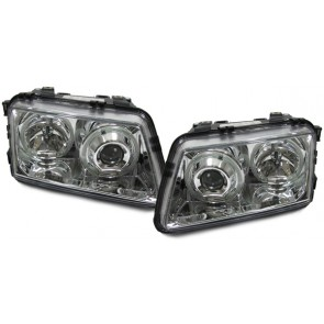 Audi A3 8L 1996-2000 helder glas ANGEL EYES koplamp chroom